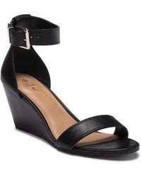 Call It Spring Abaussa Open Toe Wedge Sandal - Black