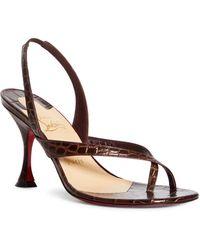 Christian Louboutin 85mm Taralita Toe Strap Sandal - Brown