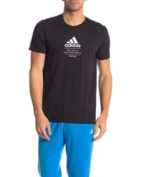 adidas Short Sleeve Knit Tee - Black