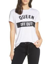 The Laundry Room Queen Off Duty Tee - White