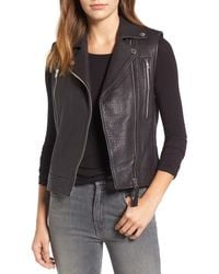 10 Crosby Derek Lam - Asymmetrical Leather Moto Vest - Lyst