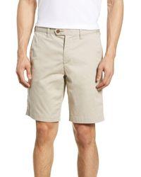 Ted Baker Shorlid Slim Fit Geo Print Chino Shorts - Natural
