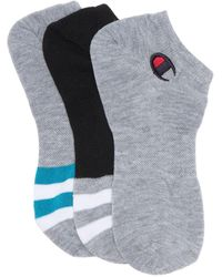 Champion Athletic Super Low No Show Socks - Gray