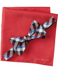 Tommy Hilfiger - Silk Gingham & Dot To-be-tied Set - Lyst