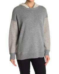 James Perse Contrast Hooded Sweatshirt - Gray