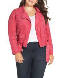 Glamorous - Faux Suede Biker Jacket (plus Size) - Lyst