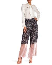 Anna Sui - Lilies Crinkle Chiffon Silk Blend Pants - Lyst