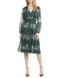 Ted Baker Delya Meadow Sweep Midi Dress - Green