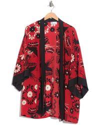 RED Valentino Floral Print Kimono - Red