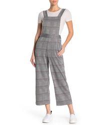Love, Fire Knit Plaid Jumpsuit - Gray
