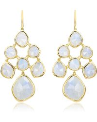 Monica Vinader Gp Siren Moonstone Chandelier Earrings - Metallic