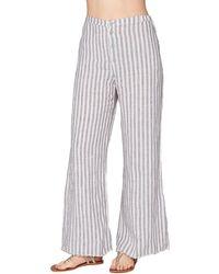 XCVI The Striped Linen Trouser - Blue