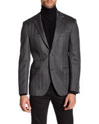 Spurr By Simon Spurr - Chevron Stripe Wool Sportcoat - Lyst