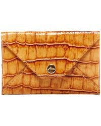 Abas - Leather Envelope Card Case - Lyst