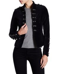Blanc and Noir - Velvet Double Breasted Military Jacket - Lyst
