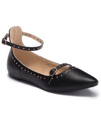 Cape Robbin - Studded Pointed Toe Flat - Lyst