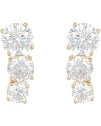 Nadri Pipa Tiered Cz Earrings - Metallic