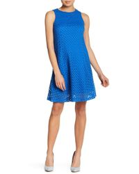 Sharagano - Eyelet Lace A-line Dress (petite) - Lyst