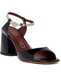 Marc Jacobs Amelia Ankle Strap Sandal - Black