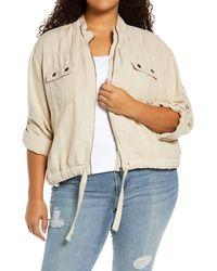 Treasure & Bond Linen Blend Field Jacket - Natural