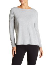 Betsey Johnson - Strappy Back Long Sleeve Tee - Lyst