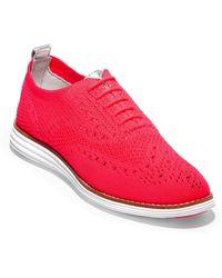 Cole Haan Zerogrand Stitchlite Wingtip Sneaker - Red