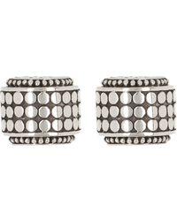 John Hardy Dot Sterling Silver Small Hi-way Earrings - Metallic