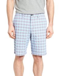 Tommy Bahama Check Shot Shorts - Blue