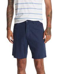 Onia Stretch Linen Traveler Shorts - Blue