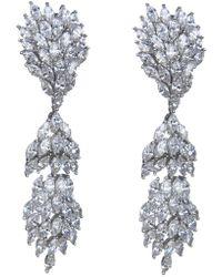 CZ by Kenneth Jay Lane - Marquise Cz Linear Drop Earrings - Lyst