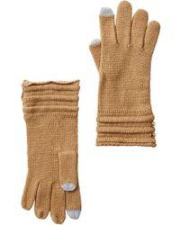 MICHAEL Michael Kors - Ottoman Stitch Button Gloves - Lyst