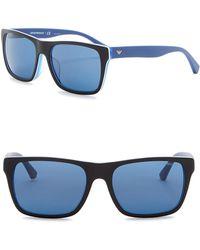 Emporio Armani - 57mm Square Sunglasses - Lyst