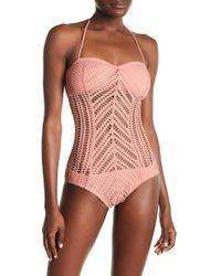 Robin Piccone - Sophia Crochet One-piece Swimsuit - Lyst