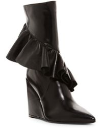 J.W. Anderson | Ruffle Wedge Boot | Lyst