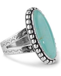 Relios - Sterling Silver Green Turquoise Oval Ring - Lyst
