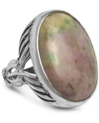 Relios - Sterling Silver Nevada Monet Stone Bold Scalloped Band Ring - Lyst