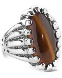 Relios - Sterling Silver Tiger Eye Oval Bold Ring - Lyst