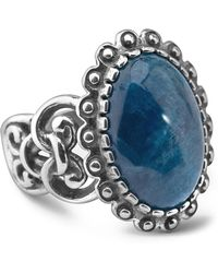 Relios - Sterling Silver Scallop Border Apatite Ring - Lyst