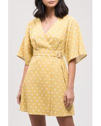 Blu Pepper - Polka Dot Belted Wrap Dress - Lyst