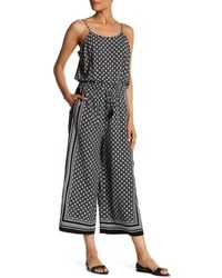 Cece by Cynthia Steffe - Medallion Ditsy Jumpsuit - Lyst