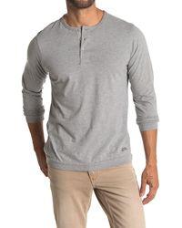 Saturdays NYC Mitch Knit Henley T-shirt - Gray
