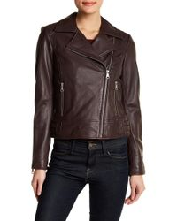 Andrew Marc - Leather Moto Jacket - Lyst