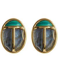 Trina Turk - Malachite & Mother Of Pearl Ladybug Stud Earrings - Lyst