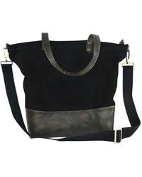 Kiko Leather - Boyfriend Leather & Canvas Tote Bag - Lyst