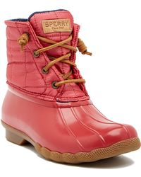 Sperry Top-Sider - Saltwater Shiny Quilted Waterproof Boot - Lyst