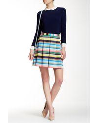 Cece by Cynthia Steffe - Confetti Stripe Skirt - Lyst