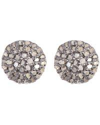 Adornia Sterling Silver Diamond Earrings - 0.30 Ctw - Metallic