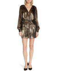 FRAME Metallic Velvet Minidress