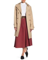 Cole Haan Belted Hooded Trench Coat - Multicolour