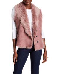 UGG - Toscana Reversible Genuine Lamb Fur Vest - Lyst